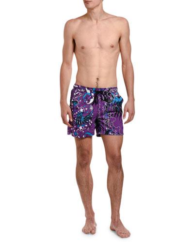 Men's Star-Print Swim Trunks
