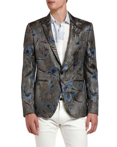 Men's Palm Tree Metallic Dinner Jacket