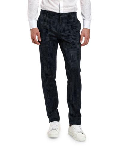 Men's Tiny Cross Knit Trousers