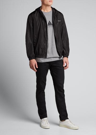 Men's Zip-Front Wind-Resistant Jacket