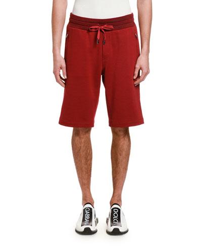 Men's DG Tag Zip-Pocket Sweat Shorts