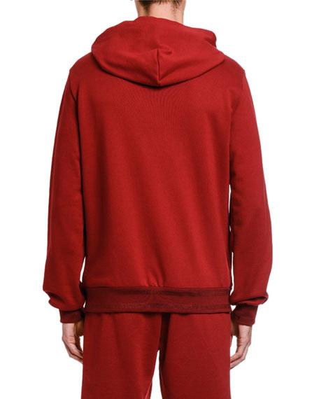 Men's Logo-Tag Zip-Front Hoodie