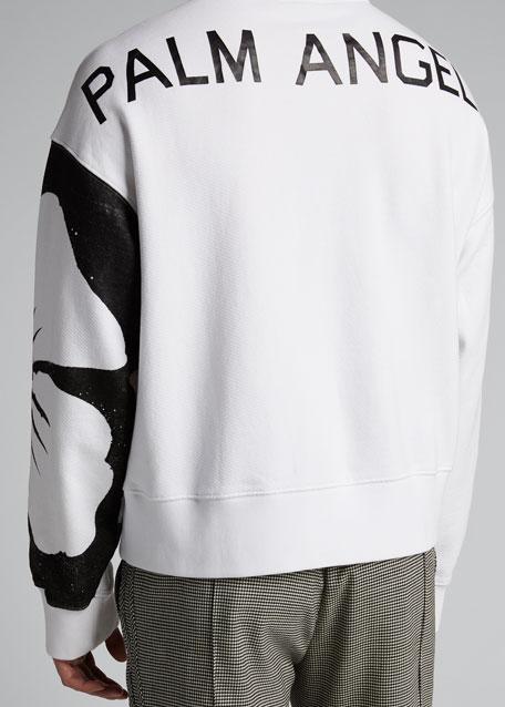 Men's Hibiscus Stencil Pullover Hoodie