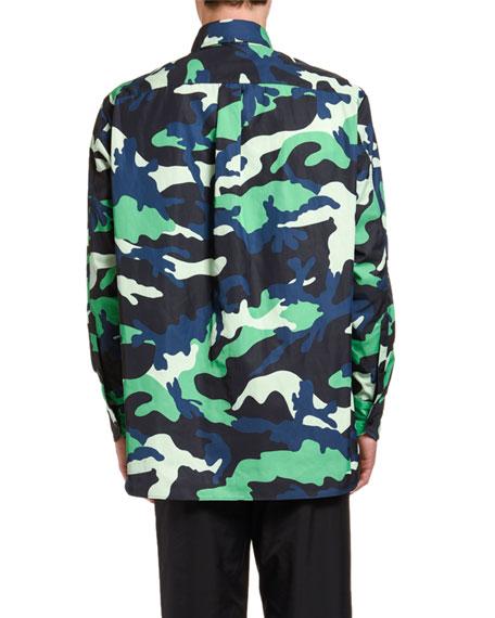 Men's Camo Long-Sleeve Overshirt