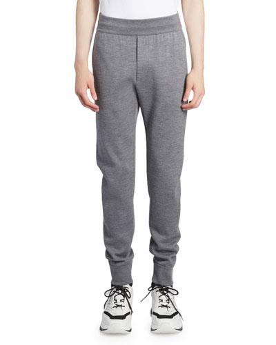 Men's Wool Knit Jogger Pants
