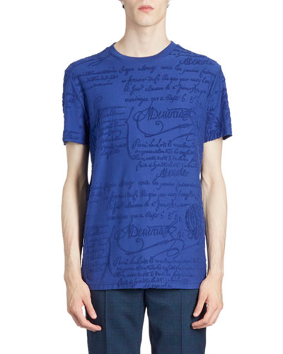 Men's Scritto Terry Cloth T-Shirt
