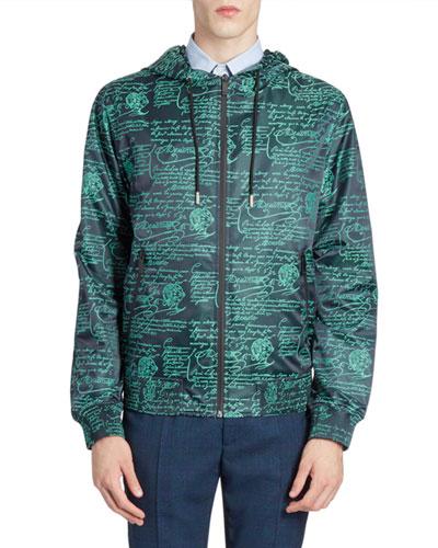 Men's Scritto Graphic Wind-Resistant Jacket