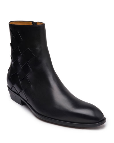 Men's Riccardo Woven Leather Boots