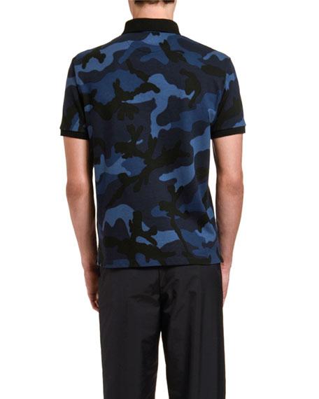 Men's Camo Pattern Polo Shirt