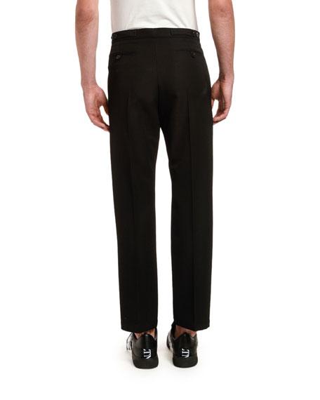 Men's Cropped Wool Pants w/ Metal Pulls