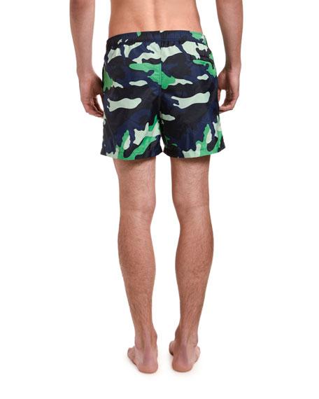 Men's Nylon Camo Swim Trunks