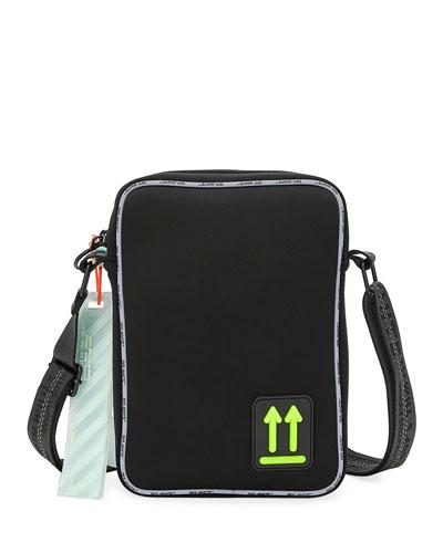 Men's Arrow Crossbody Man Bag w/ Logo Piping