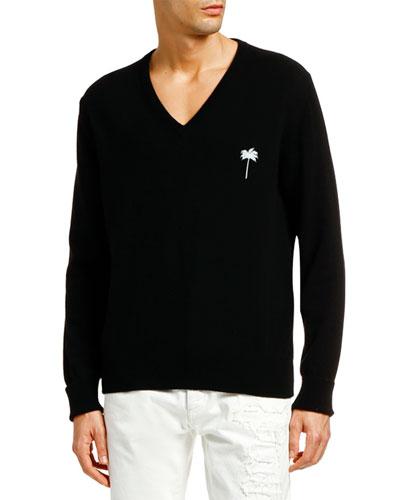 Men's PXP Cashmere V-Neck Sweater