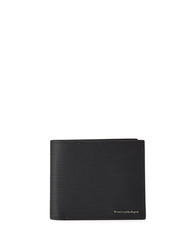 Men's Textured Leather Billfold Wallet