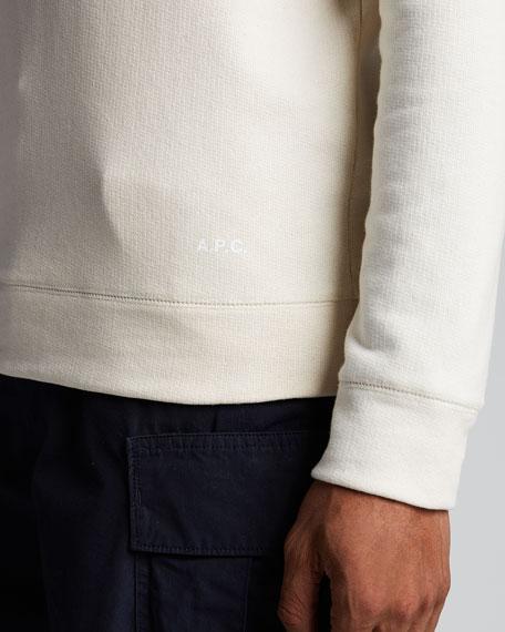Men's Solid Organic Cotton Crewneck Sweater