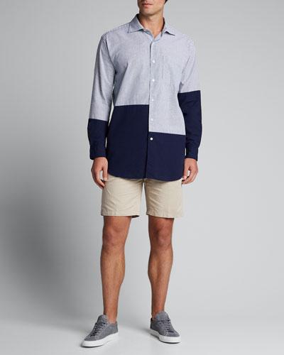 Men's Colorblock Seersucker Sport Shirt