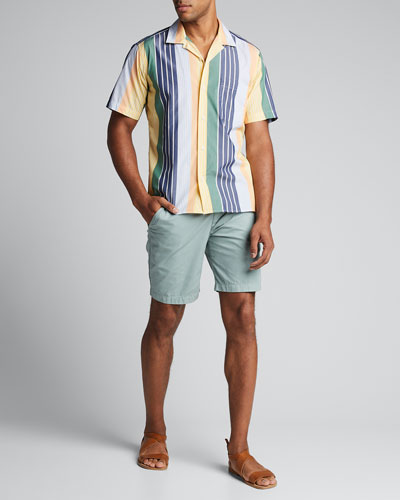 Men's Multi-Stripe Camp Shirt