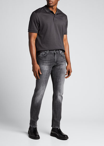 Men's 002 Whiskered Dark-Wash Jeans