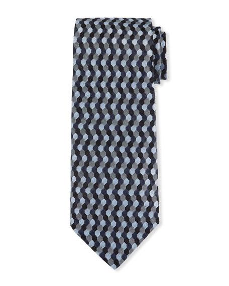 Men's Silk Hexagon Jacquard Tie