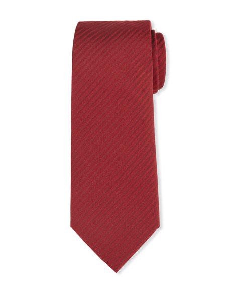 Men's Silk Tonal Stripe Jacquard Tie