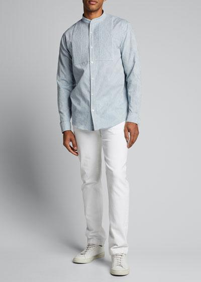 Men's Chambray Tuxedo Shirt