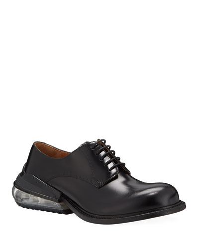 Men's Airbag Clear-Heel Leather Derby Shoes