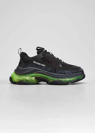 Men's Triple S Clear-Sole Sneakers