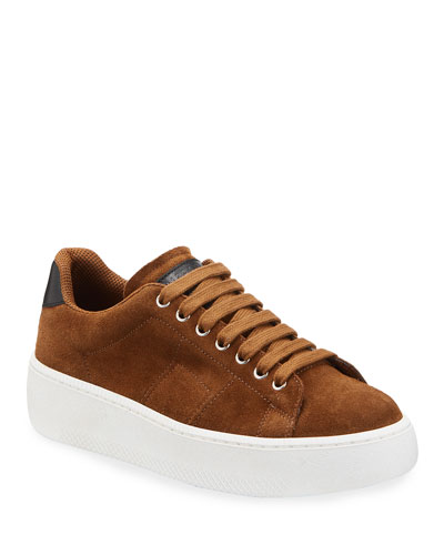 Men's Game Set Match Suede Platform Sneakers