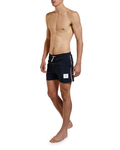 Men's Drawcord-Waist Swim Trunks