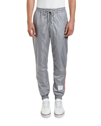 Men's Ripstop Track Pants with Side Stripes