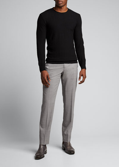 Men's Chevron-Pattern Crewneck Sweater