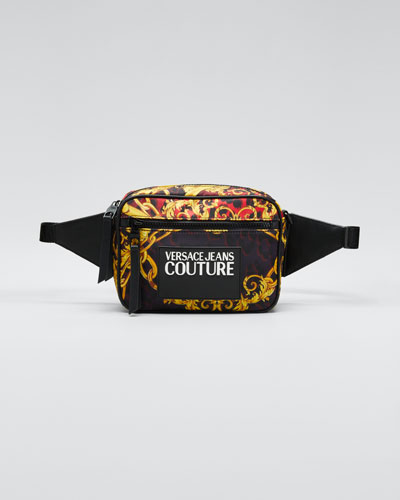 Men's Baroque-Print Zip Pouch