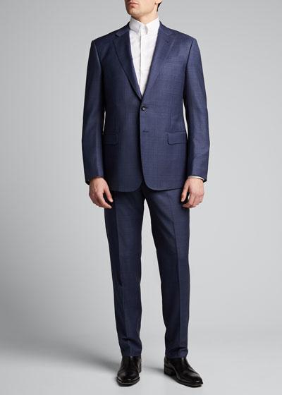 Men's Two-Piece Plaid Suit