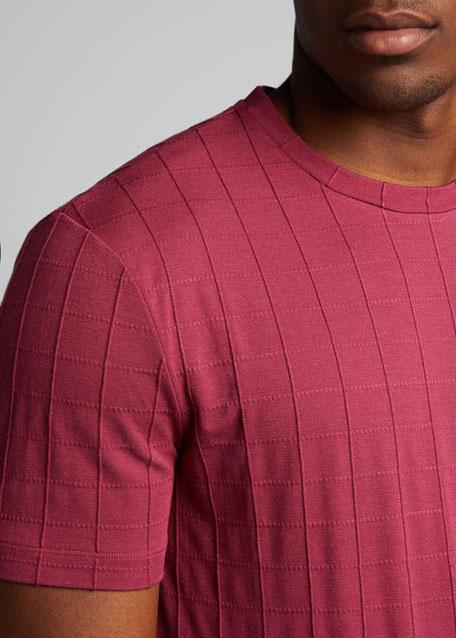 Men's Square-Pattern Jersey T-Shirt