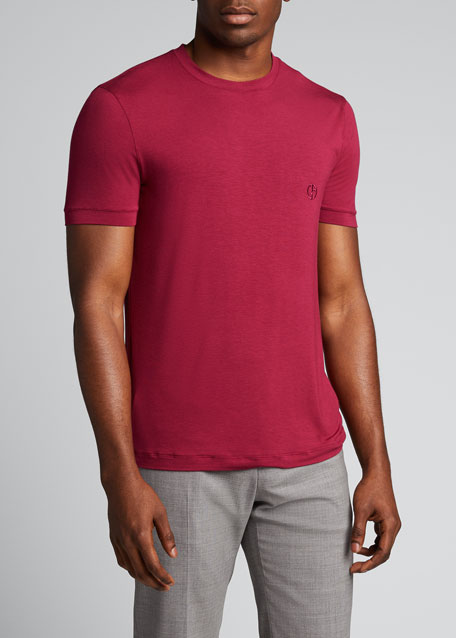 Men's Logo-Embroidered Jersey T-Shirt