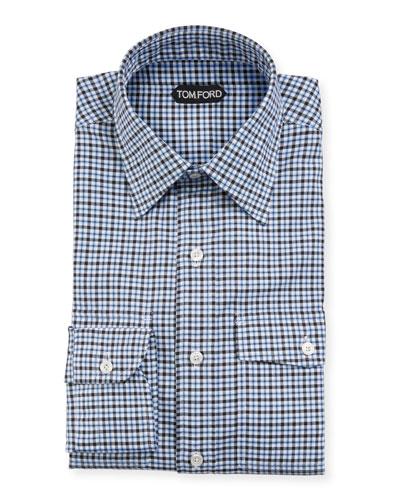 Men's Oxford Tattersall Dress Shirt