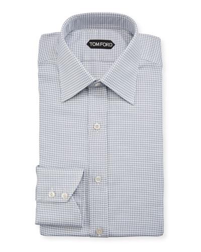 Men's Houndstooth Cotton Dress Shirt