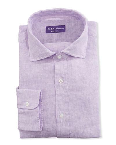 Men's Solid Linen Dress Shirt