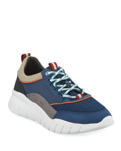 Men's Birky Colorblock Mesh & Leather Sneakers