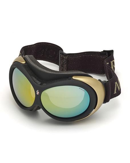 Men's Mirrored Ski Goggles