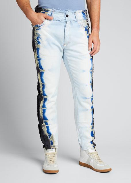 Men's Tie-Dye Trim Jeans