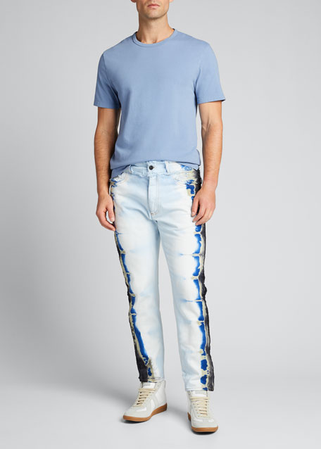 Image 1 of 1: Men's Tie-Dye Trim Jeans