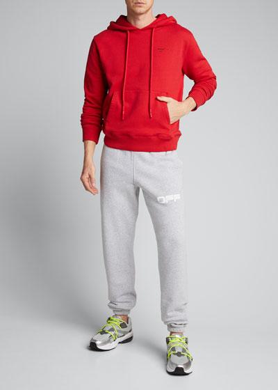 Men's Arrow Applique Slim Hoodie Sweatshirt