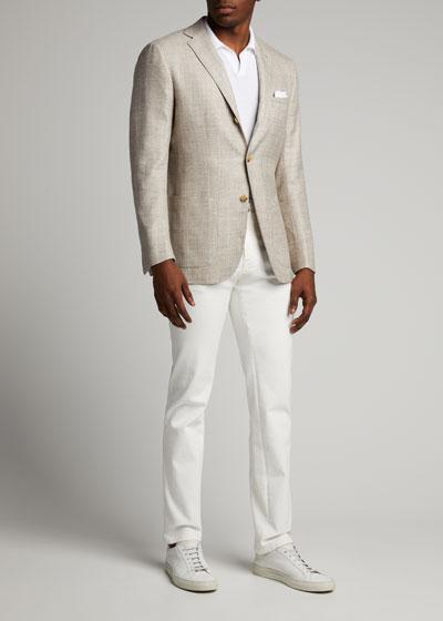 Men's Heathered Cashmere-Blend Blazer