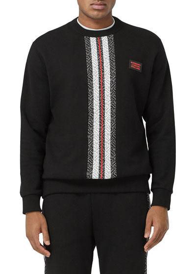 Men's Monogram-Stripe Sweatshirt