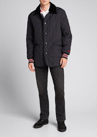 Men's Varsity Stripe Quilted Barn Jacket
