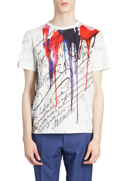 Image 1 of 1: Men's Inkblot Scritto Graphic T-Shirt
