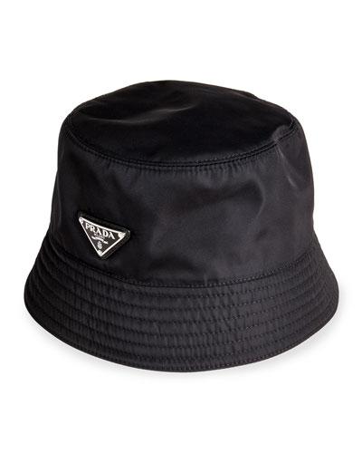 Men's Nylon Logo Bucket Hat