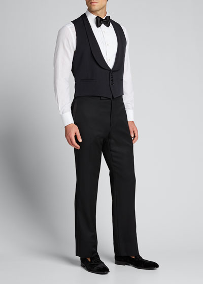 Men's Shawl-Collar Faille Vest