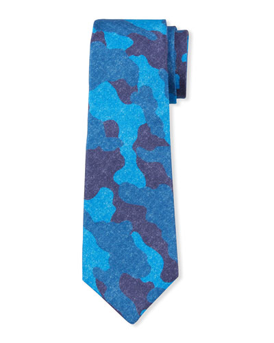 Men's Camo Silk/Linen Tie